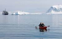 Kayaking off the Antarctic peninsula